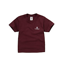 Buy St Anselms School Unisex T-Shirt, Maroon Online at johnlewis.com