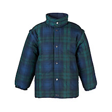 Buy Thomas's Unisex Tartan Padded Jacket, Blue/Green Online at johnlewis.com