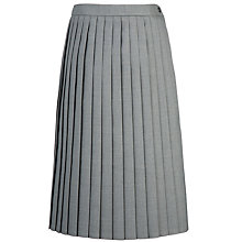 Buy Girls' School Knife-Pleat Skirt, Light Grey Online at johnlewis.com