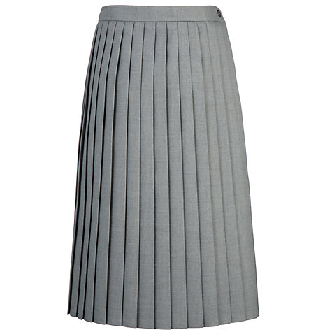 buy school pleat skirt light grey lewis
