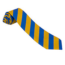 Buy School Unisex Tie, Royal Blue/Yellow Online at johnlewis.com
