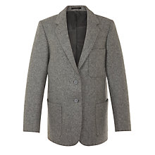 Buy Girls' School Wool Blazer, Grey Online at johnlewis.com