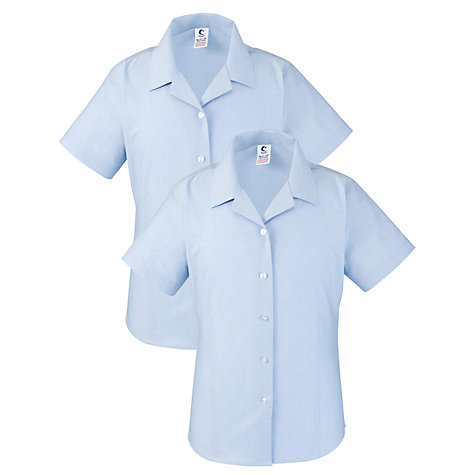 Buy Sacred Heart High School Girls' Short Sleeve Blouse, Pack Of 2, Light Blue Online at johnlewis.com