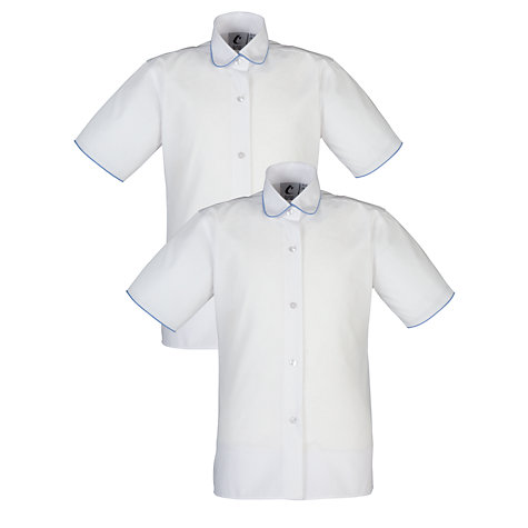 Buy Thomas's Girls' Summer Blouse, Pack of 2, White Online at johnlewis.com