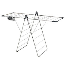 Buy John Lewis Chrome X-Wing Airer Online at johnlewis.com
