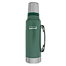 Buy Stanley Classic Vacuum Flask, Hammertone Green, 1L Online at johnlewis.com