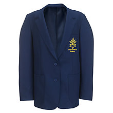 Buy Carlton Le Willows Academy Girls' Badged Blazer, Royal Blue Online at johnlewis.com