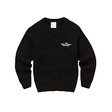 Buy The Minster School, Southwell, Unisex V-Neck Jumper, Black Online at johnlewis.com