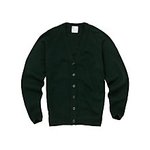 Buy Girls' School Cardigan, Bottle Green Online at johnlewis.com