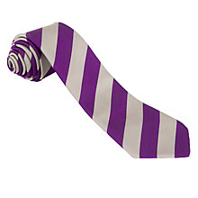 Buy Arduthie Primary School Unisex Tie, Purple/Grey Online at johnlewis.com