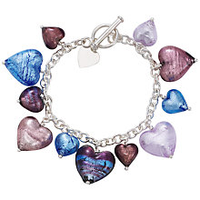 Buy Martick Spring Murano Glass Heart Bracelet Online at johnlewis.com
