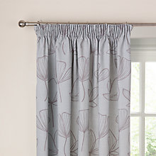 Buy John Lewis Gingko Pencil Pleat Curtains, Mineral Online at johnlewis.com