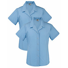 Buy Dame Allan's Senior School Girl's Summer Blouse, Pack of 2, Blue Online at johnlewis.com
