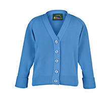 Buy Girls' School Cardigan, Capstan Blue Online at johnlewis.com