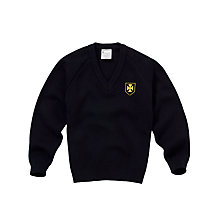 Buy Dame Allan's Senior School Boy's Pullover, Black Online at johnlewis.com