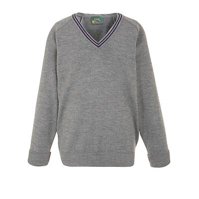 The Chorister School Prep Unisex Pullover, Grey/Purple
