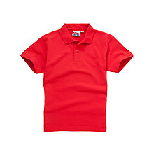Buy Falcon Junior School Peregrine Team Polo Shirt, Red Online at johnlewis.com