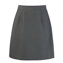 Buy Girls' A-Line Back Inverted Pleat School Skirt, Grey Online at johnlewis.com