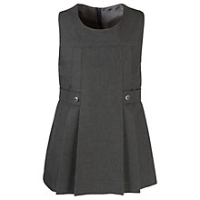 Buy Girls' School Round Neck Tunic, Grey Online at johnlewis.com