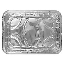 Buy John Lewis Rectangular Disposable Foil Tray Online at johnlewis.com
