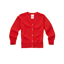 Buy John Lewis V-Neck Cardigan, Red Online at johnlewis.com