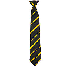 "Buy Christ the King Catholic School Unisex Clip-On Tie, 16"", Black/Gold Online at johnlewis.com"