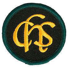 Buy Connaught House School Unisex Blazer Badge, Black/Yellow Online at johnlewis.com