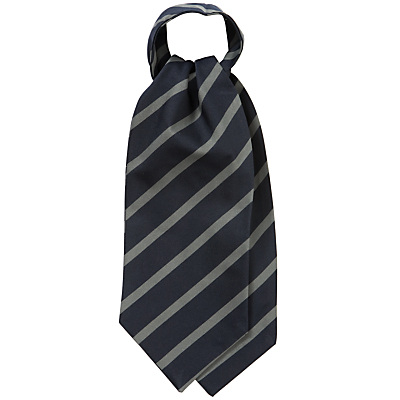 Heath House Preparatory School Unisex Cravat NavyGrey £15.00 AT vintagedancer.com