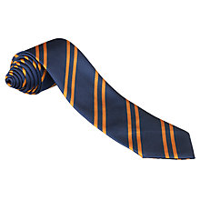 Buy Eltham College Junior Tie, Navy/Orange Online at johnlewis.com