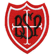 Buy St Barnabas and St Philip's Primary School Unisex Blazer Badge, Red/Black Online at johnlewis.com