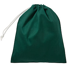 Buy John Lewis Drawstring School Shoe Bag, Bottle Green Online at johnlewis.com