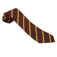 Buy St Anselms School Unisex Tie, Maroon/Yellow Online at johnlewis.com