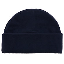 Buy School Fleece Hat, Navy Online at johnlewis.com