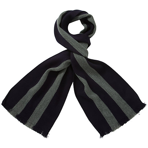 Buy School Scarf, Navy/Grey Online at johnlewis.com