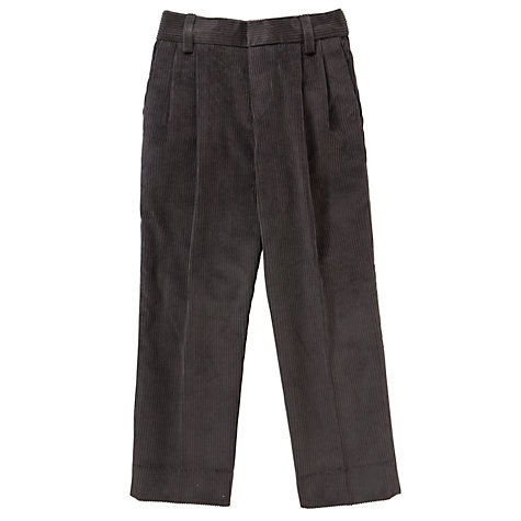 Buy Boys' Cord School Trousers, Grey Online at johnlewis.com