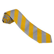 Buy Cheadle Catholic Infant & Junior School Unisex Tie, Grey/Yellow Online at johnlewis.com