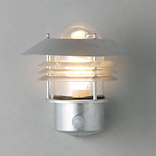 Buy Vejers PIR Outdoor Wall Light , Galvanised Steel Online at johnlewis.com