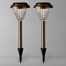 Buy John Lewis Bahia Solar Outdoor Stake Lights, Set of 2 Online at johnlewis.com