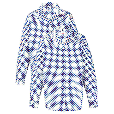 Buy Grey Coat Hospital School Long Sleeve Blouse, Pack Of 2, White/Blue Online at johnlewis.com