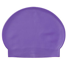 Buy Plain Latex Swimming Cap, Purple Online at johnlewis.com