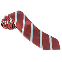Buy St Cuthbert's High School Tie, Red/Blue Online at johnlewis.com