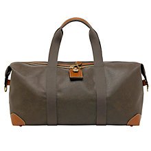 Buy Mulberry Scotchgrain Medium Clipper Holdall, Mole/Cognac Online at johnlewis.com
