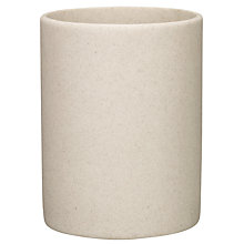 Buy John Lewis Dune Bathroom Bin, Sandstone Online at johnlewis.com