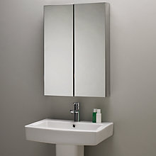 Buy John Lewis Shine Double Mirrored Bathroom Cabinet Online at johnlewis.com