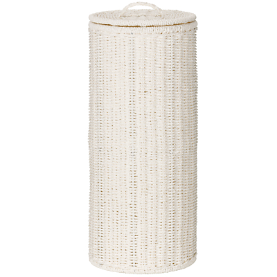 John Lewis White Rope Toilet Roll Holder, White