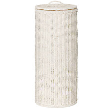 Buy John Lewis White Rope Toilet Roll Holder, White Online at johnlewis.com
