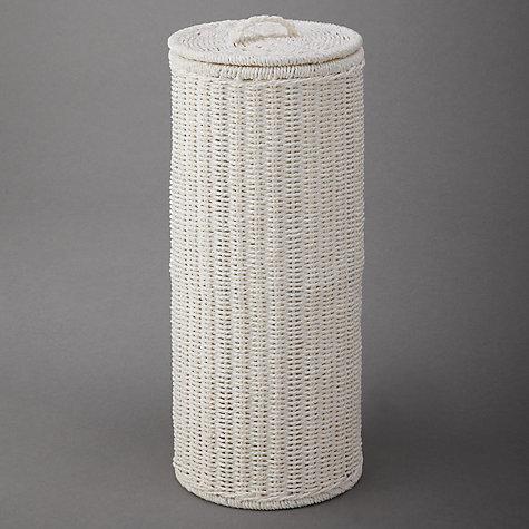 Buy John Lewis White Rope Toilet Roll Holder White John