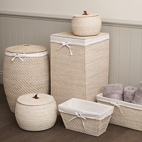 Buy John Lewis Rattan Laundry Bin, Natural Online at johnlewis.com