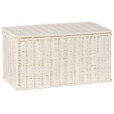 John Lewis White Rope Storage Box