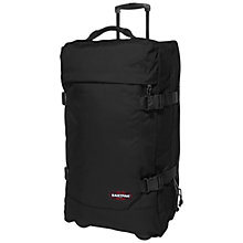 Buy Eastpak Tranverz 2-Wheel Medium Suitcase, Black Online at johnlewis.com